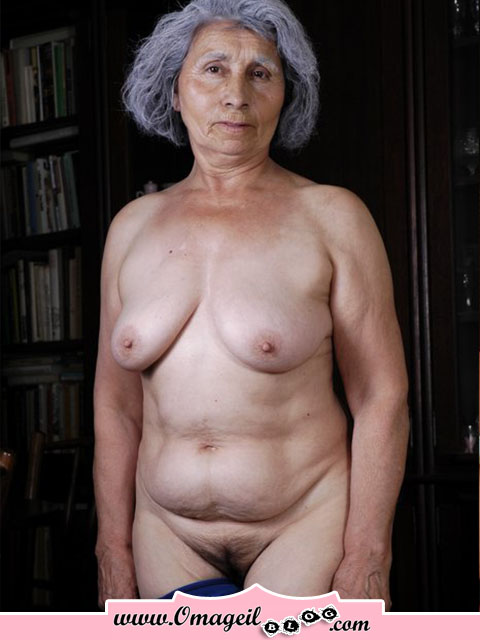 old lady tits